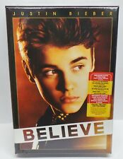 Justin Bieber Believe Uber Deluxe CD / DVD Set (T-Shirt, Bracelet, Pin) - NEW