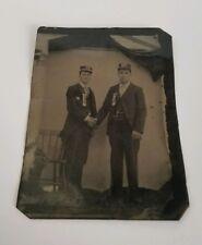 Vintage Tin Type Photo Railroad Conductors