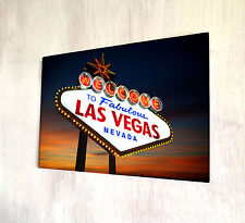 Welcome to fabulous las vegas nevada A4 plaque métal shabby chic