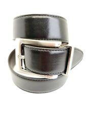 Nauticaboys' Men's Black Brown Reversible Leather Dress Belt Size 26