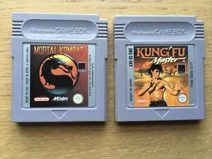 Mortal Kombat + Kung Fu Master Nintendo Gameboy Game Bundle Pal