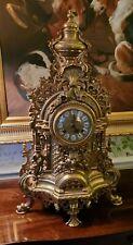 Italian Brass Garniture / Mantle Clock