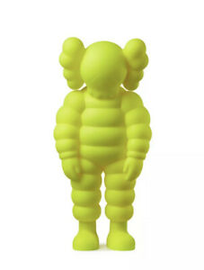 KAWS WHAT PARTY AUTHENTIC FIGURE YELLOW