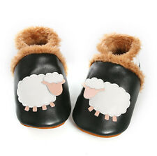 Baby Girl/'s Shoes Toddler Black//Cream Polka Dot Rose et Chocolat Leather Pram