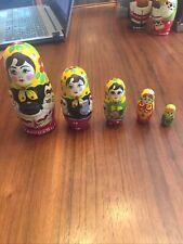vintage russian matryoshka nesting dolls Set Of 5
