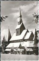 """Ansichtskarte Hahnenklee im Oberharz """"Kirche im Winter/Schnee"""" - schwarz/weiß"""