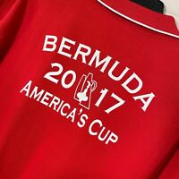 America's Cup 2017 Bermuda Polo Shirt S/S Red 100% Cotton Men's Size XL
