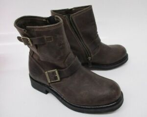 Women's Harley-Davidson Brown Leather Riding Boot US 9M 81484