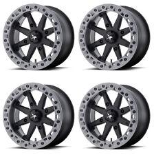 4 ATV/UTV Wheels Set 15in MSA M31 Lok2 Beadlock Black 4/137 0mm CAN