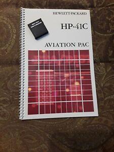 Working HP-41C CV CX Aviation X Module 15018 w Manual
