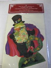 1988 Merrimack Die Cut Easel Leopold the Frog Christmas Greeting Card Mip Beebe