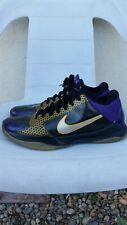 OG 2009 9.5 Nike Zoom Kobe Bryant V 5 POP Playoff Carpe Diem Lakers Black Shoes