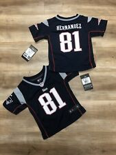 AARON HERNANDEZ NEW ENGLAND PATRIOTS NIKE NFL FOOTBALL JERSEY BNWT INFANT SIZE