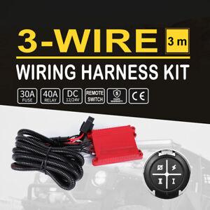 Wiring Harness 12 24V Relay Switch Controller Kit for White/Amber LED Light Bar