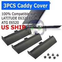 3 PCS HARD DRIVE CADDY COVER FOR DELL LATITUDE E6320 E6420 ATG E6520 LAPTOP