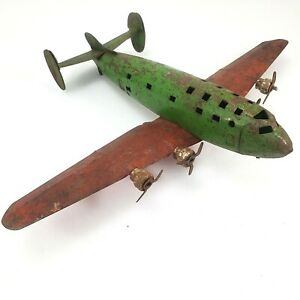 Vintage Toy Wyandotte Steel Airliner DC-4 Experimental 1939 For Restoration