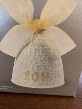 Lladro 2016 Annual Christmas Bell Ornament Fine Porcelain Euc w/ Box Angels Tree