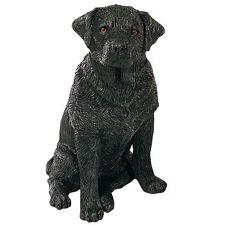 Sandicast Mid Size Figurine:Labrador Retriever,Black, Sitting M116