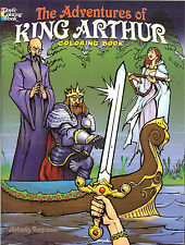 The Adventures of King Arthur Coloring Book from Dover Publications, NEW PB
