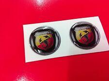 2 Adesivi Resinato Sticker 3D FIAT 20 mm ABARTH