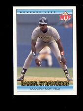 1992 McDonalds MVP DARRYL STRAWBERRY Los Angeles Dodgers Card Mint