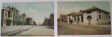 TWO Antique Bakersfield CA Postcards Street Scene & Beale Library - 2