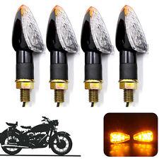 4x Motorcycle Bike LED Turn Signal Light Indicator Amber Flasher Universal 14LED