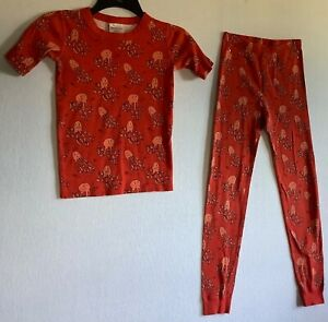 HANNA ANDERSSON kids Orange with Octopus pajamas - size 10 or 140cm EXCELLENT!