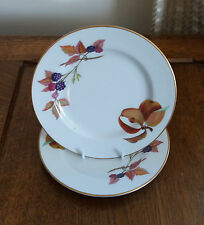 ROYAL WORCESTER 'EVESHAM' TEA PLATES [x 2]