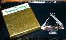 "Camillus 17B Knife American Wildlife Canada Goose 3-7/8"" Circa-1979 W/Packaging"