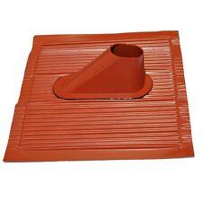 Dachabdeckung ALU Dachziegel universal für Masthalter 38-60mm rot, Ziegelrot