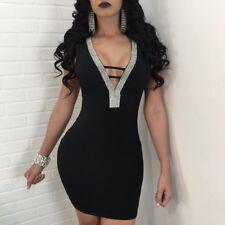 USA Sexy Women Lady Lace UP Backless Elegant Club Party Body con Mini Dress