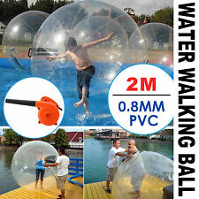 2M WALK WATER WALKING DANCE BALL ROLL BALL ZORB BALL INFLATABLE TIZIP ZIPPER