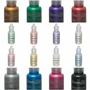 Pearl Effects - Liquid Pearls by Dovecraft 16 Colours Brights & Pastels 3 for 2!