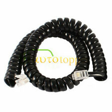 6.5FT Black Cable Wire Telephone Handset Phone Extension Cord Curly Coil LiBLIS