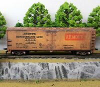 HO Scale Custom Painted Weathered Train Freight Box Car Armour Refrigerator