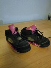 Nike Air Jordan Retro  5  Black,pink  Size 8c