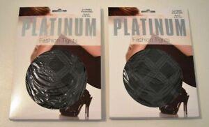 NEW 2 x Berlei Platinum Fashion Tights Layered Diamond Black Average / Tall