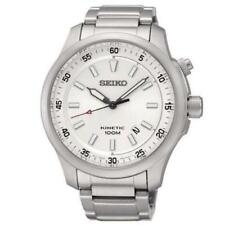 Seiko SKA683P1 Men's Wristwatch Steel Bracelet & Case Automatic White Dial 44mm