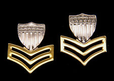 TWO 1st CLASS PETTY OFFICER E6 COLLAR LAPEL HAT PIN AUTHENTIC US COAST GUARD VET