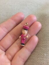 Vintage 1992 POLLY POCKET Bracelet Breloque Bluebird Doll Figure Batteur knecklace