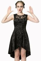 Gothic Punk Black Vampire Lace Roses Corset Skull Candy Dress By Banned Apparel