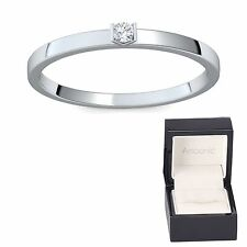 Reinheit SI Solitäre Echte Diamanten-Ringe für Damen