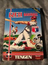 RBI Baseball Nintendo NES Excellent Condition Video Game in Box w/ Booklet 1987