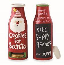 Mud Pie Christmas Kids' Gifts Cookies For Santa Ceramic Milk Bottle 4355013