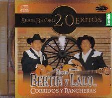 Dueto Bertin y Lalo Corridos y Rancheras Serie 20 Exitos CD New Nuevo Sealed