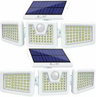 2Pack Solar Lights Outdoor,Security Motion Sensor LED Lights 3 Adjustable Head