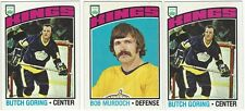11 1976-77 TOPPS HOCKEY LOS ANGELES KINGS CARDS (GORING x2/MURDOCH+++)