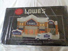 LOWE'S 65th ANNIVERSARY EDITION LIGHTED CERAMIC BUILDING WITH 2 ACCESSORIES