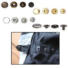 12mm S Spring Snap Fastener Press Studs 4 Part Set Sewing Leather Craft Handbag